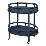 Mainly Baskets Sausalito Oval Bar Cart
