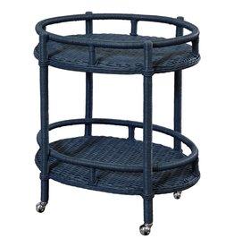 Mainly Baskets Sausalito Oval Bar Cart