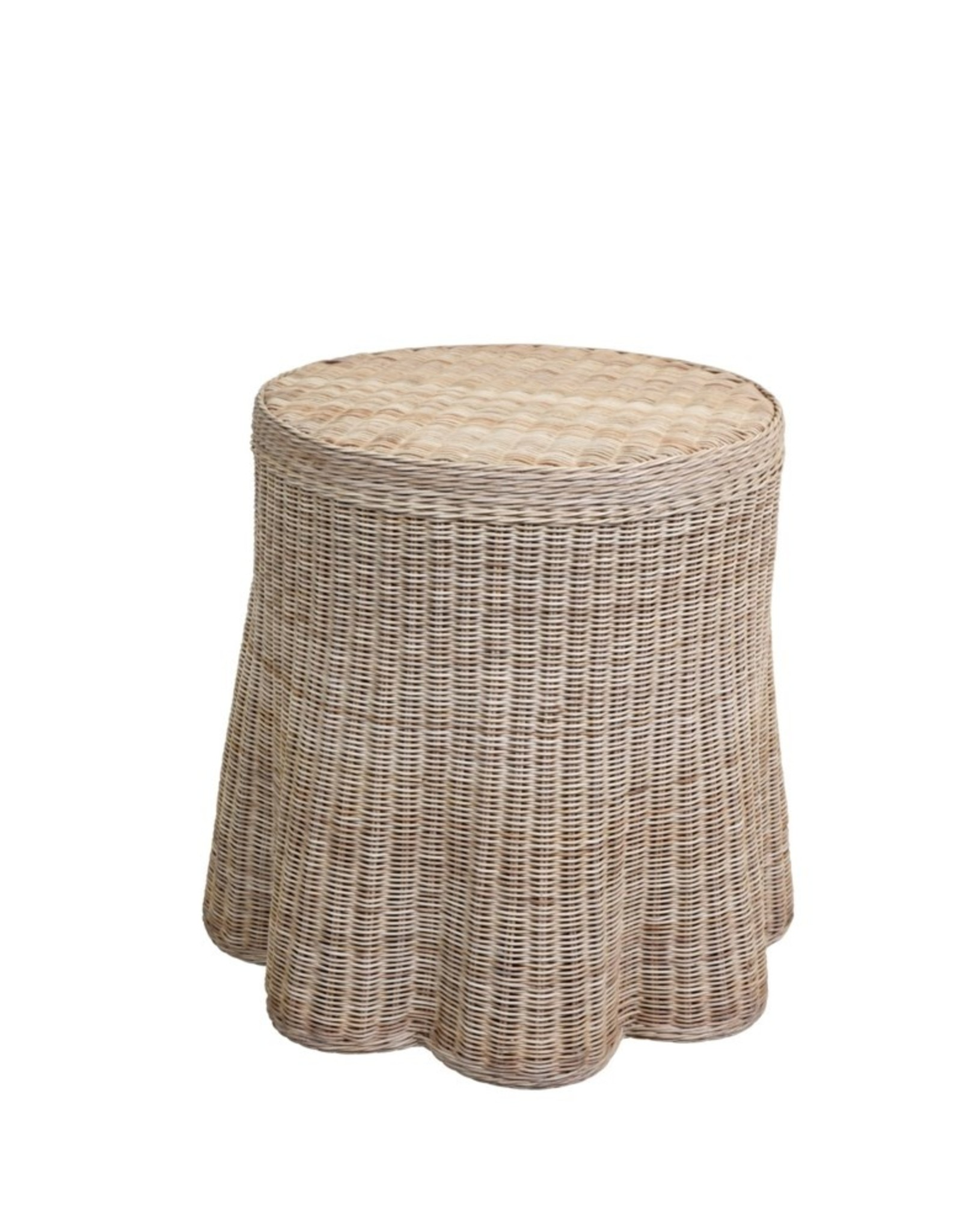 Mainly Baskets Scallop Side Table - Natural