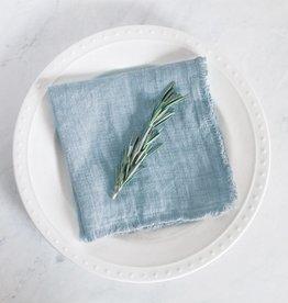 Creative Women Stone Washed Linen Cocktail Napkin - Light Blue