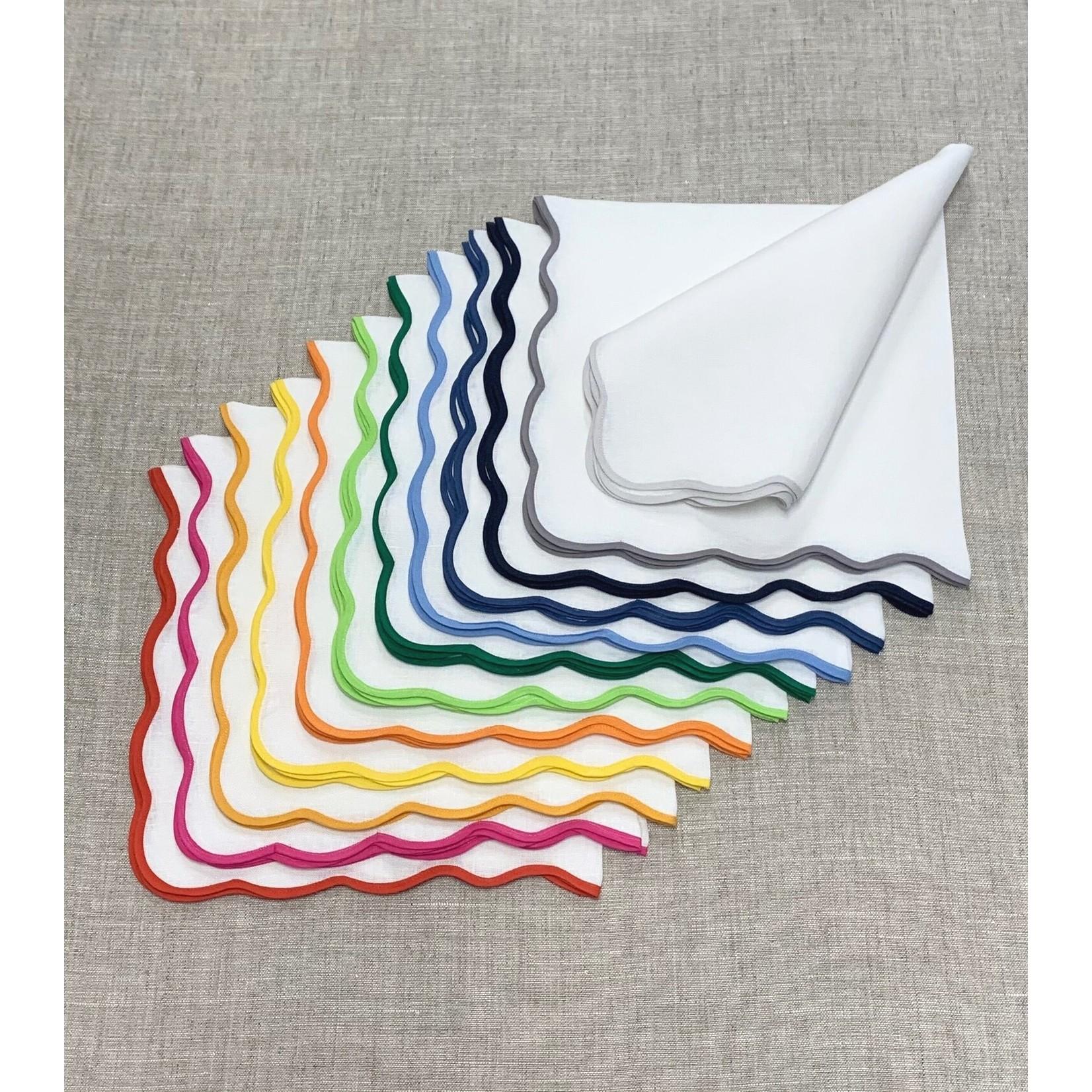 Tina Chen Designs Wave Border Napkins - Set of 6