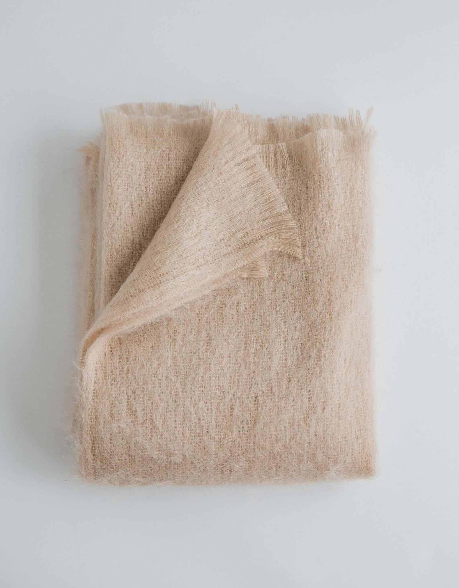 Evangeline Linens Mohair Throw