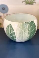 Jill Rosenwald Medium Belly Bowl - Feather/Algae