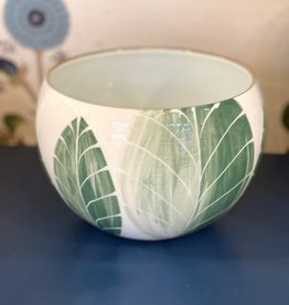 Jill Rosenwald Medium Belly Bowl - Feather/Algae