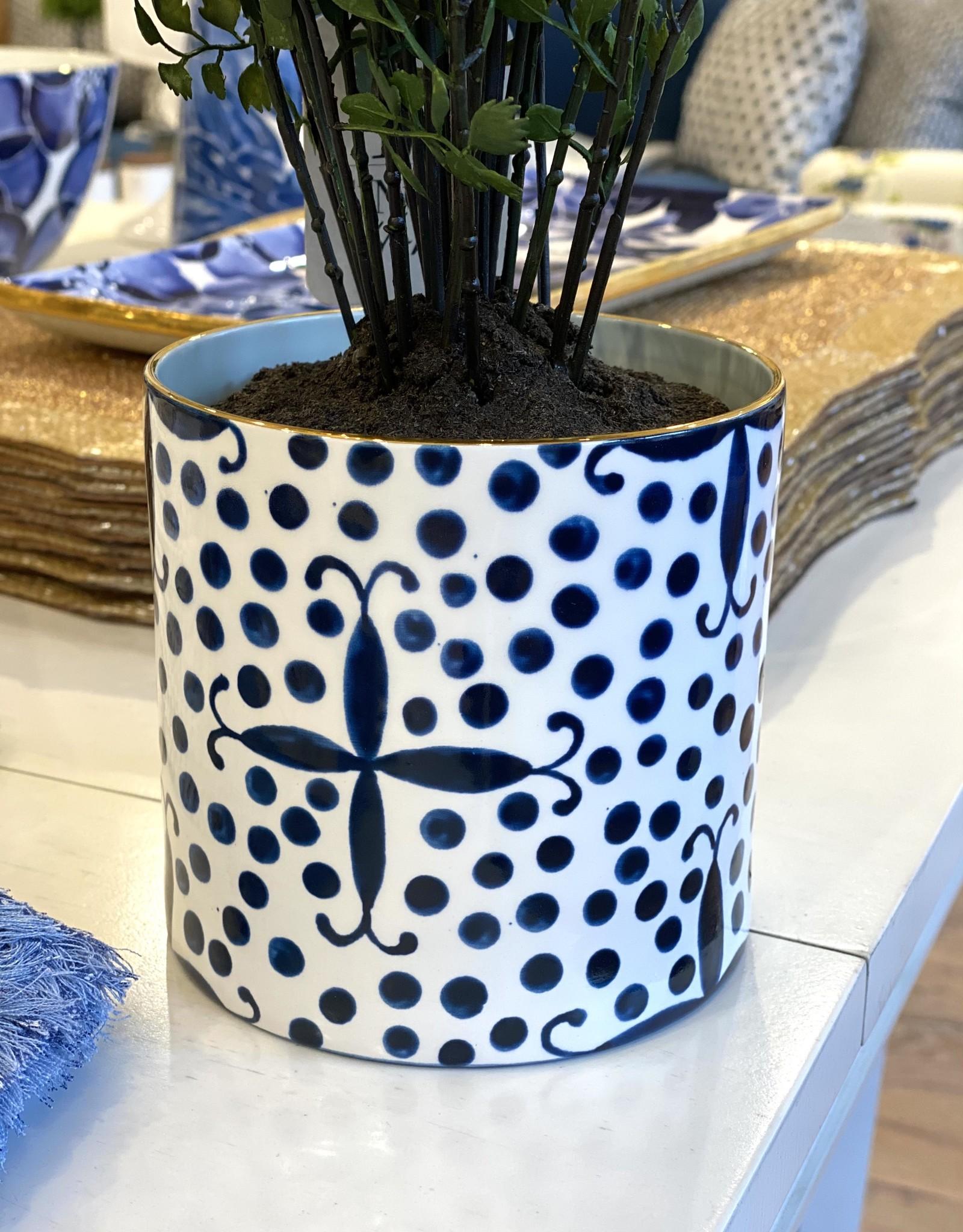 Jill Rosenwald Orchid Vase - Kooky Dot/Prussian