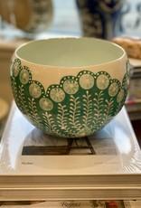 Jill Rosenwald Large  Belly Bowl - High Five/Bright Carob