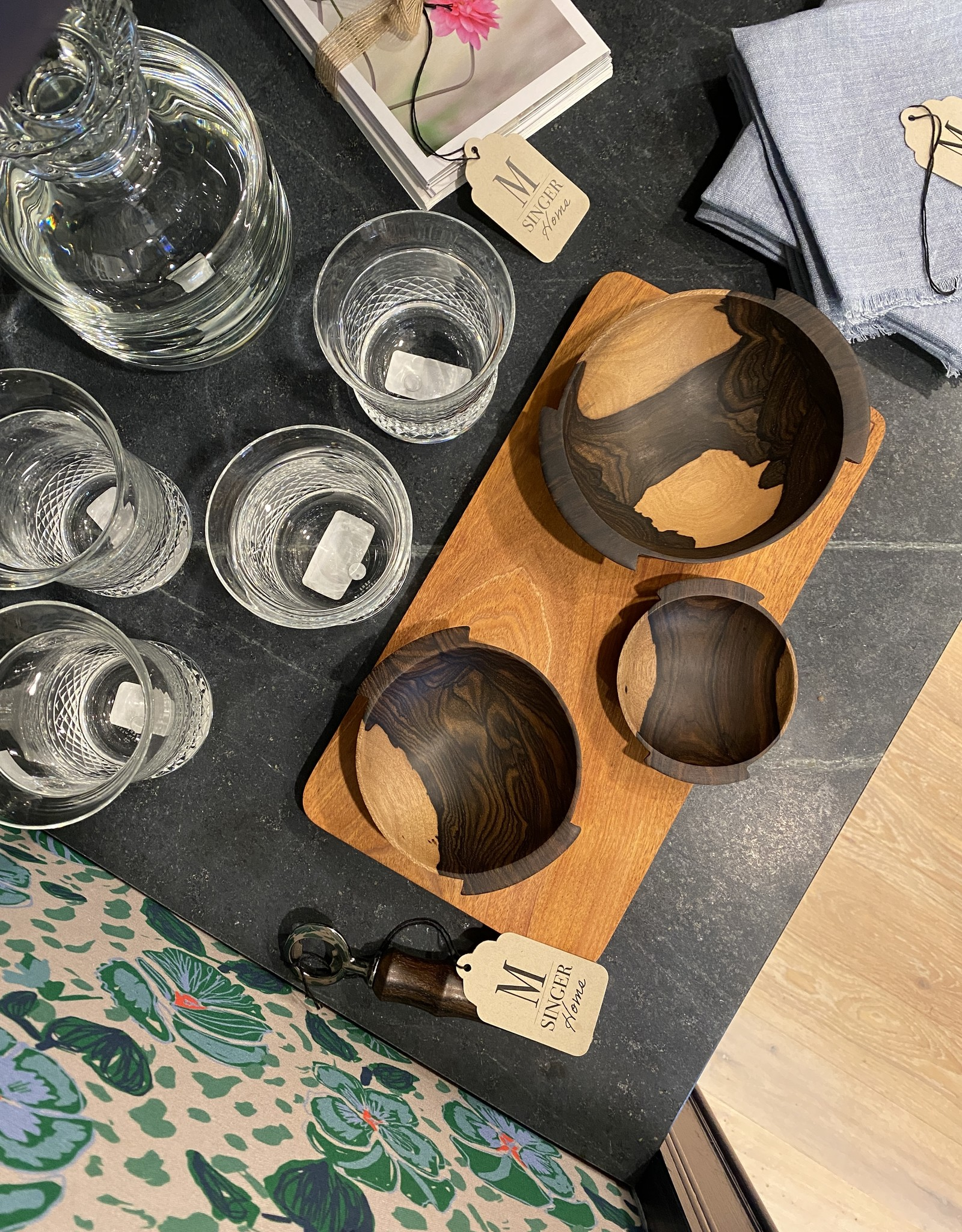 Itza Wood Nesting Bowls (Set of 3)