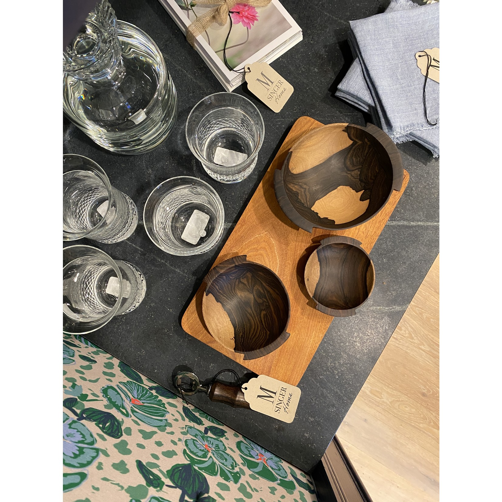 Itza Wood Nesting Bowls (Set of 3)