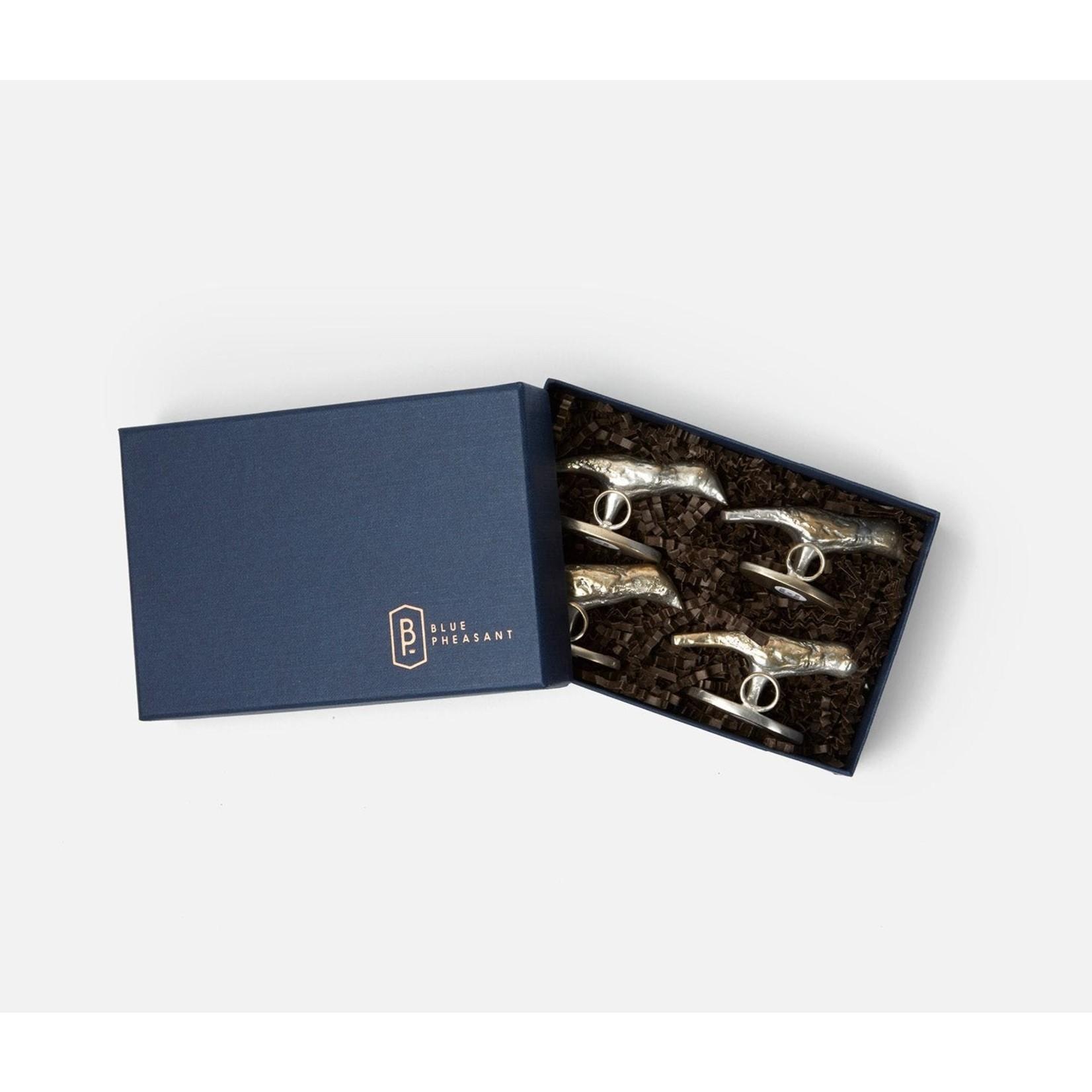 Blue Pheasant Hailey Card Holder - Set of 4
