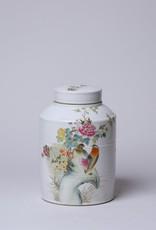Cobalt Guild Famille Rose Cylindrical Lidded Jar