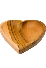 Poppy + Sage Heart Teak Bowl