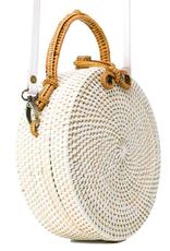 Poppy + Sage White Milly Bag - Palm Leaf