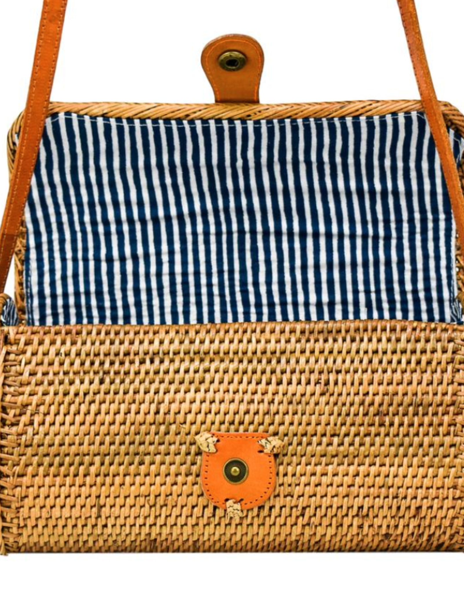 Poppy + Sage Pippa Bag - Nantucket Navy Stripe