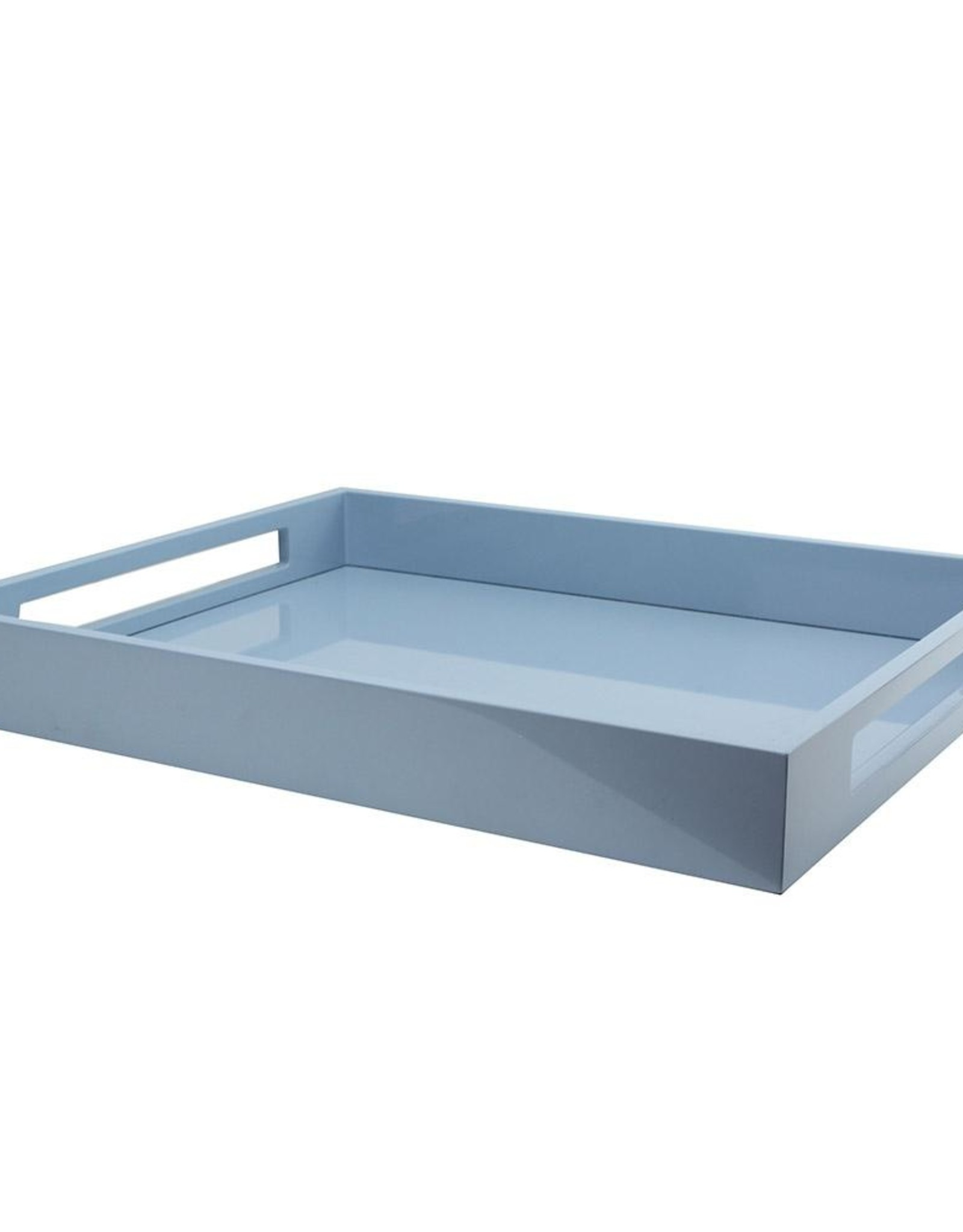 Addison Ross Lacquered Serving Tray - Pale Blue