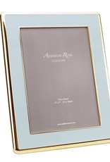 Addison Ross Powder Blue Enamael & Gold Curved Frame