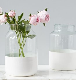etu HOME White Colorblock Mason Jar