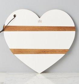 etu HOME Heart Charcuterie Board - White