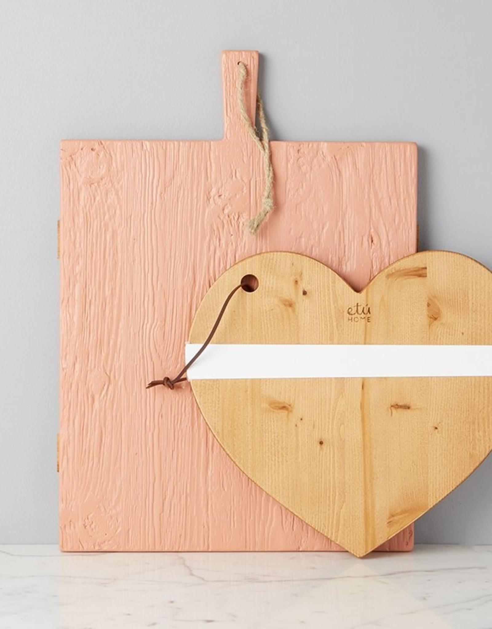 etu HOME Heart Charcuterie Board - Natural