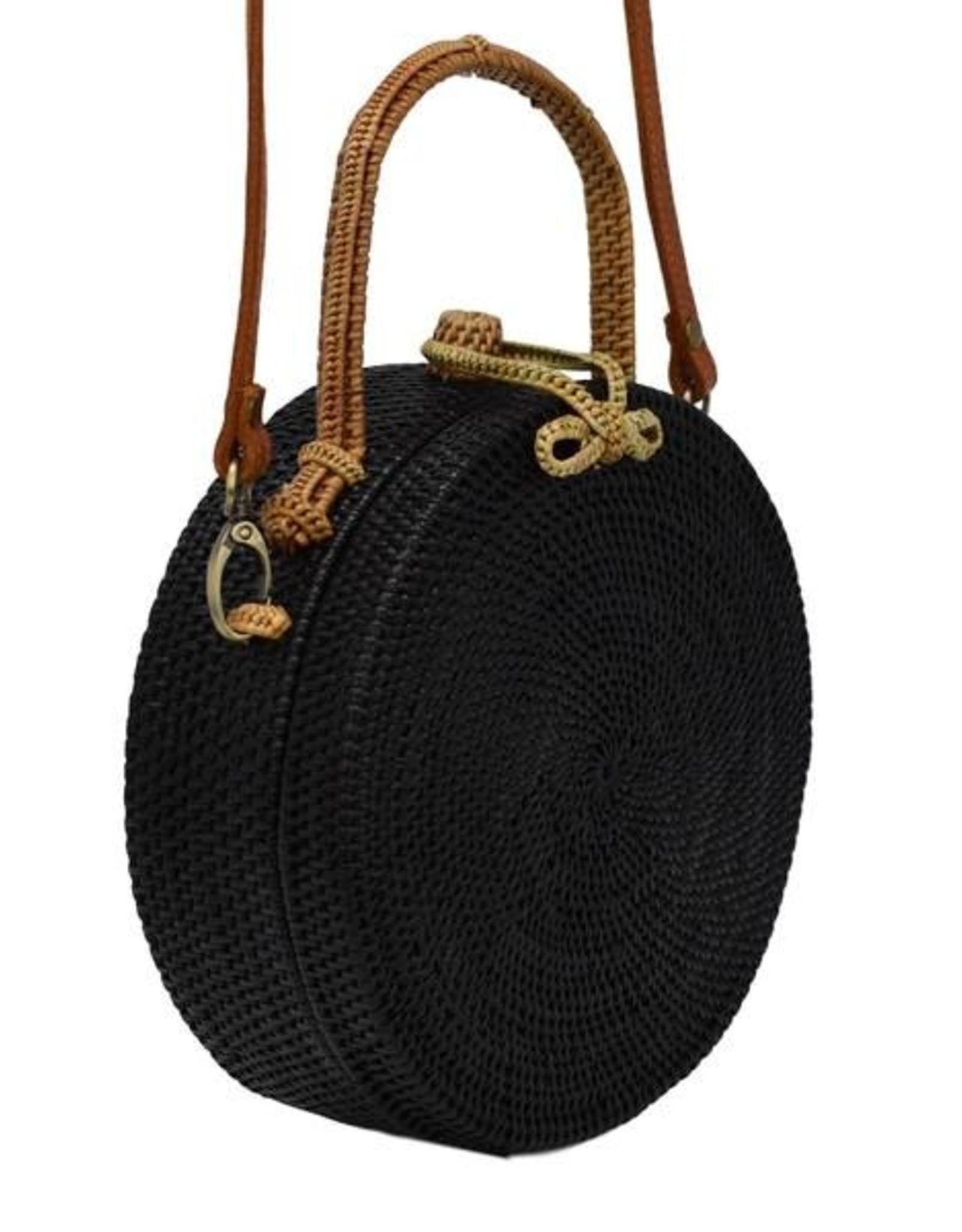 Poppy + Sage Black Milly Bag - Natural