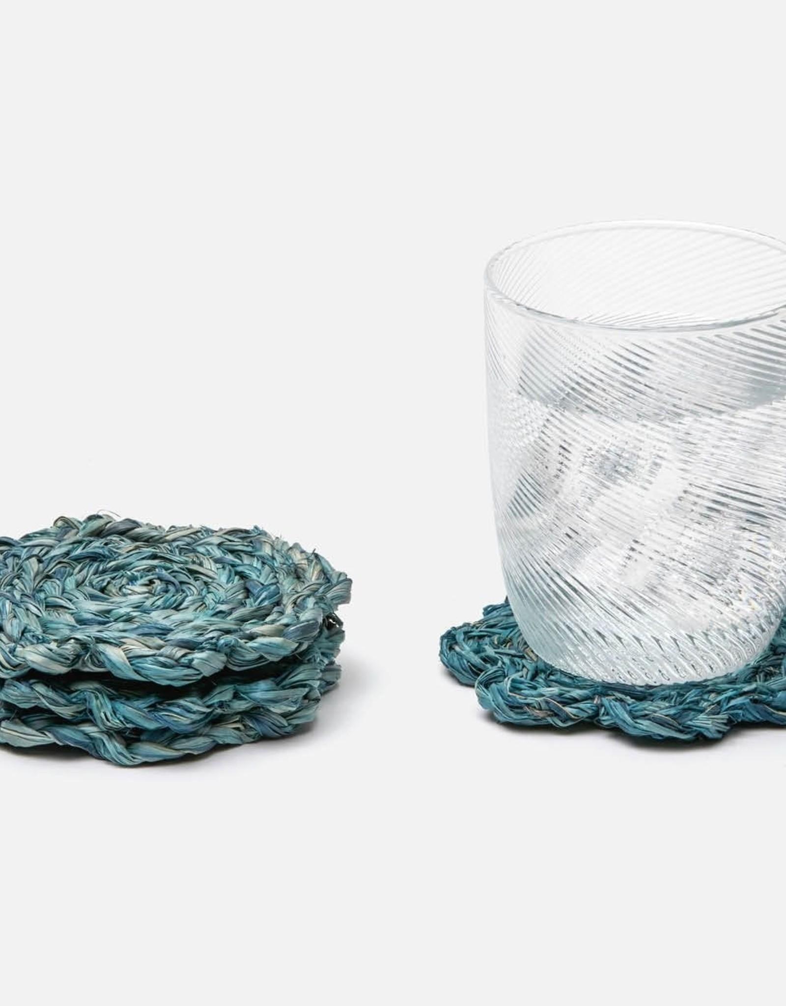 Blue Pheasant Vera Flower Coasters - Set of 4