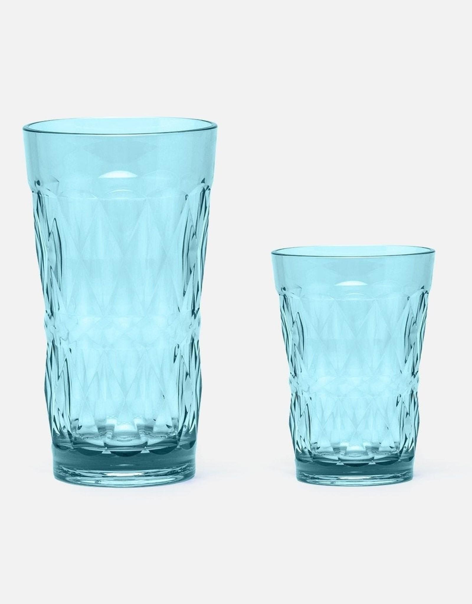 Blue Pheasant Brielle Acrylic Blue Glassware
