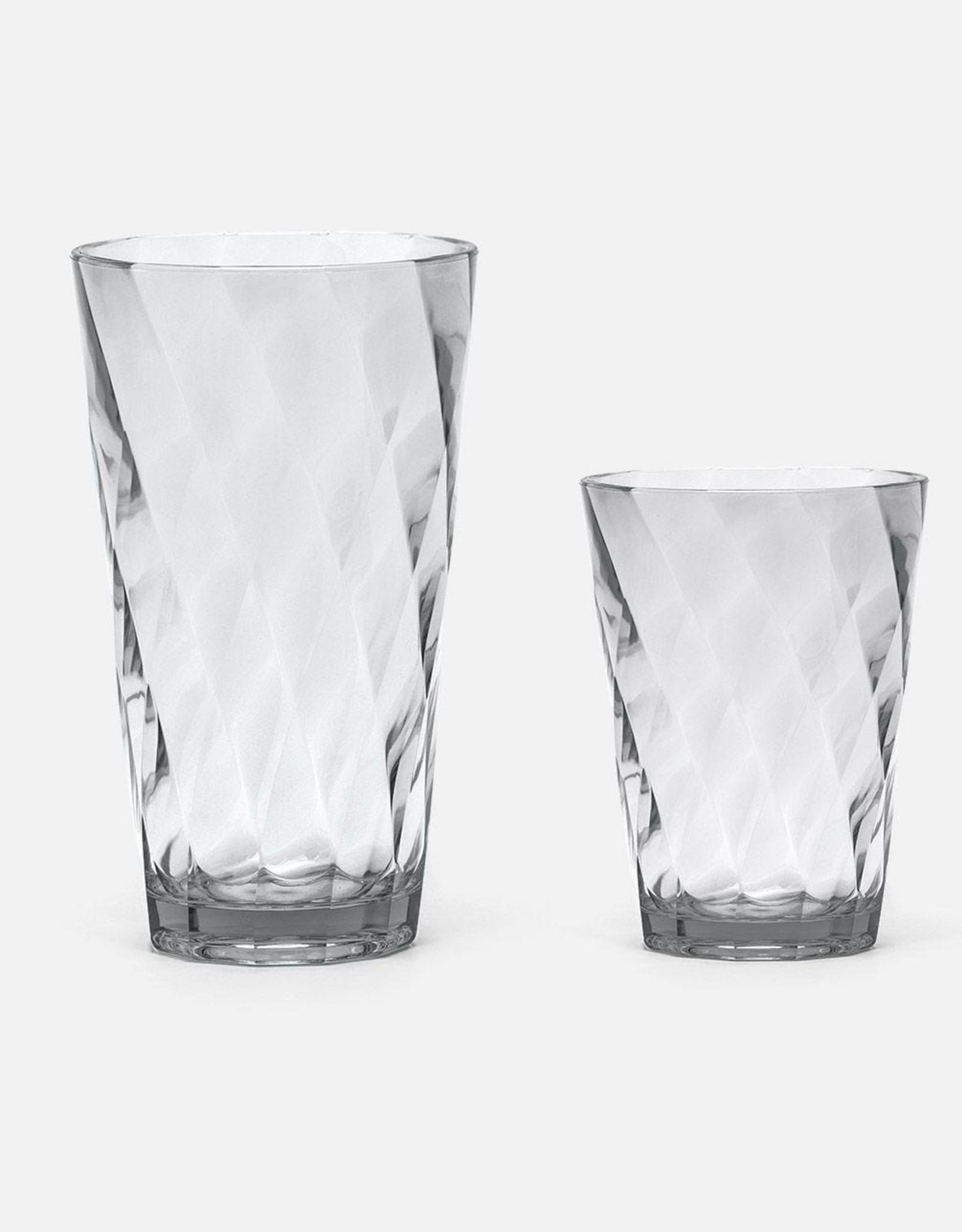 Blue Pheasant Beverly Acrylic Light Gray Glassware