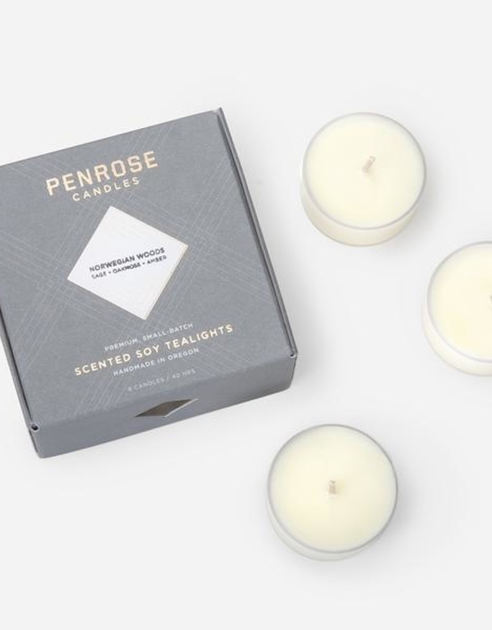 Penrose Candles Scented Tealights - Set of 8