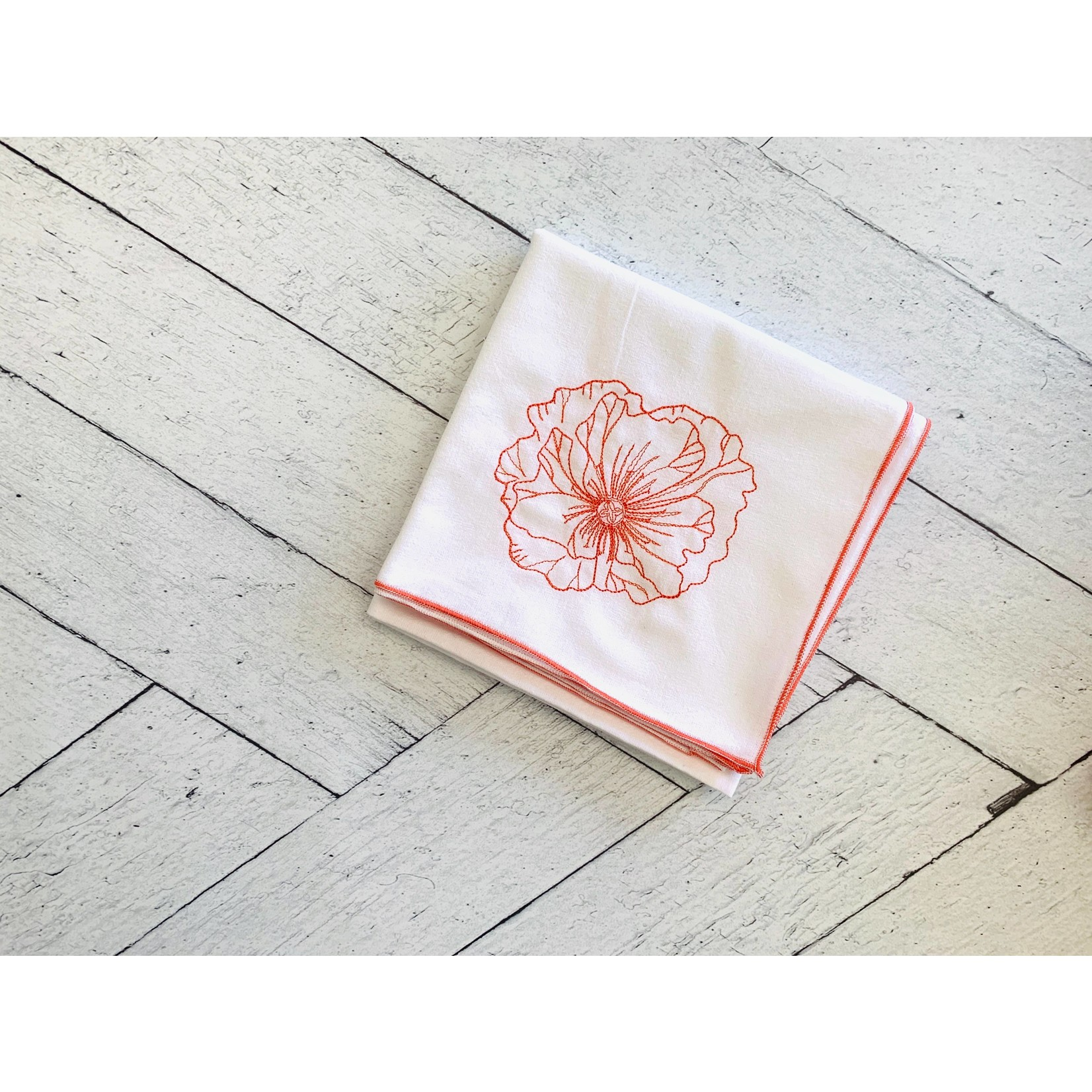 Dot and Army Poppy Flour Sack Towels - Set of 3