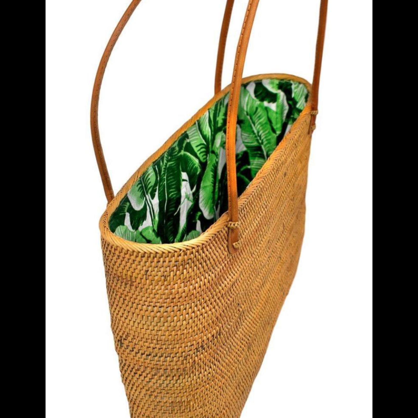 Poppy + Sage Harper Tote - Palm Leaf