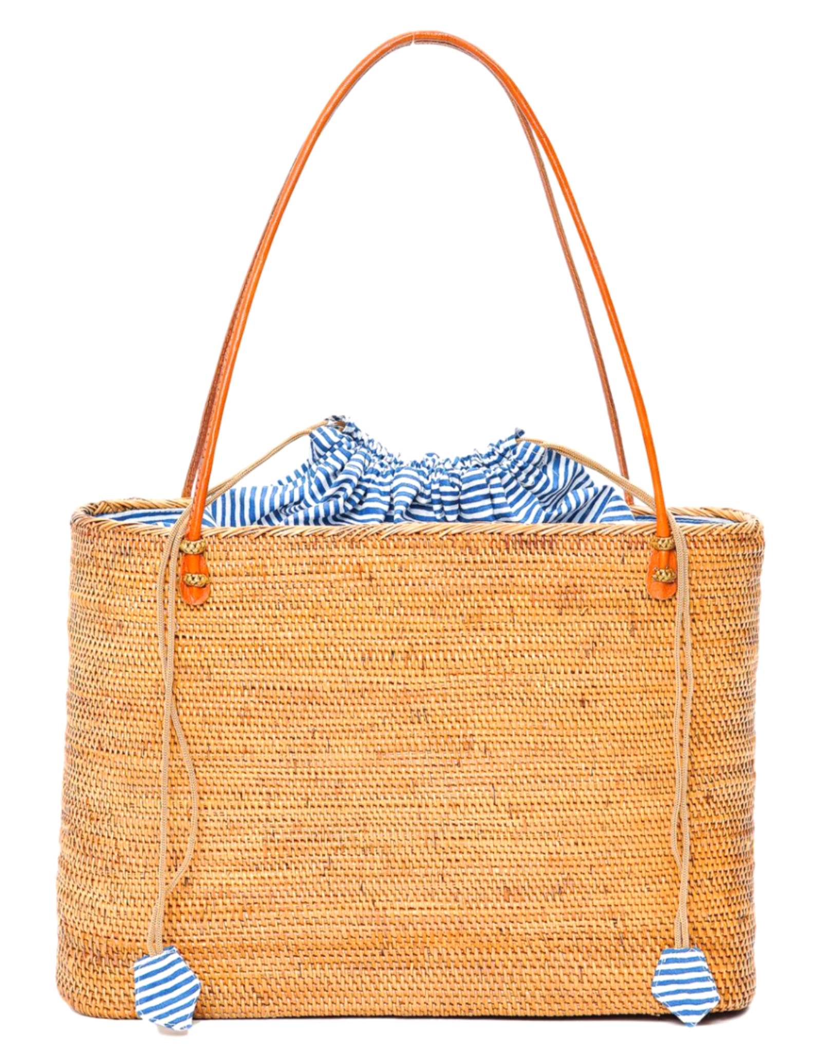 Poppy + Sage Harper Tote - Nantucket Navy Stripe