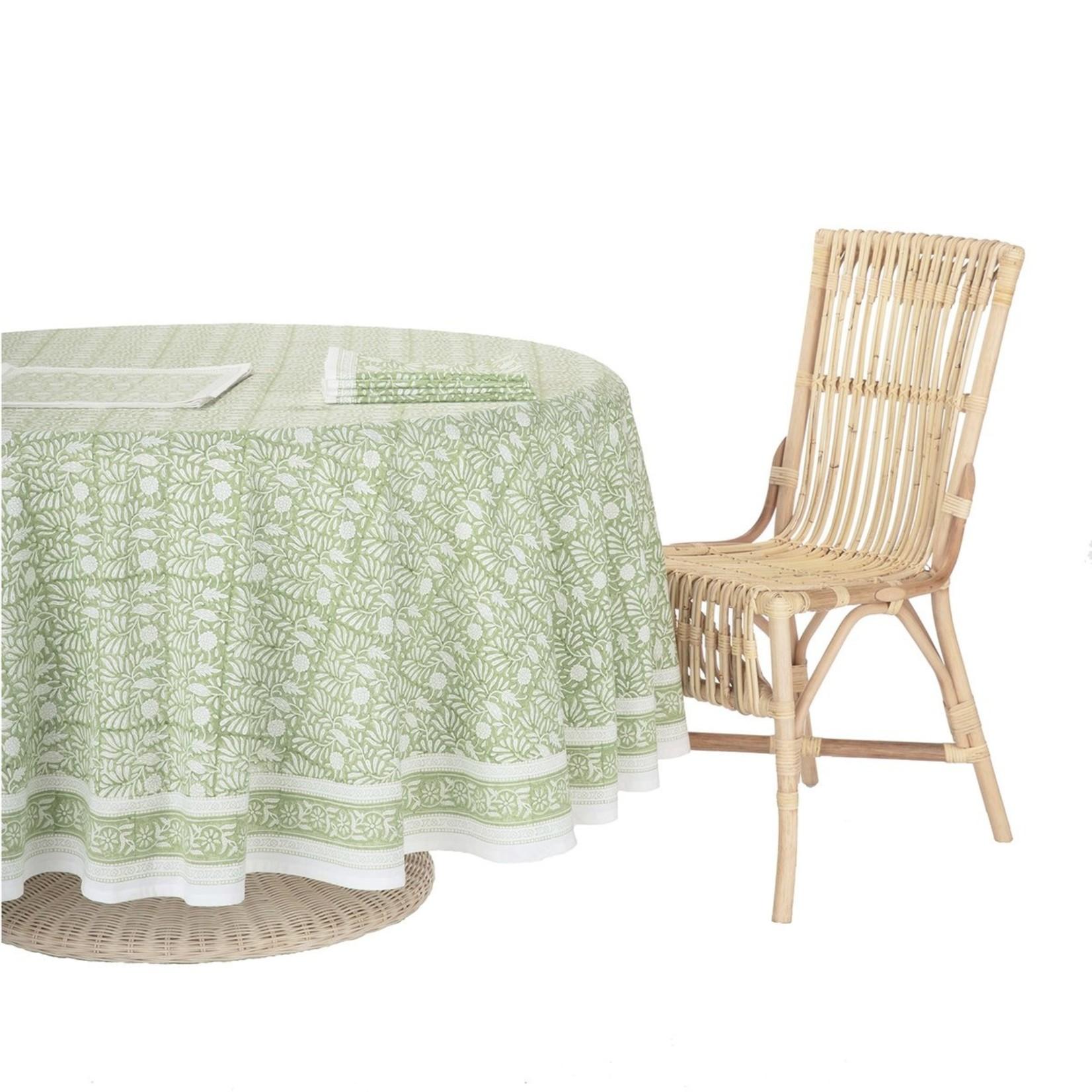 Amanda Lindroth Hand-Blocked Jasmine Tablecloth