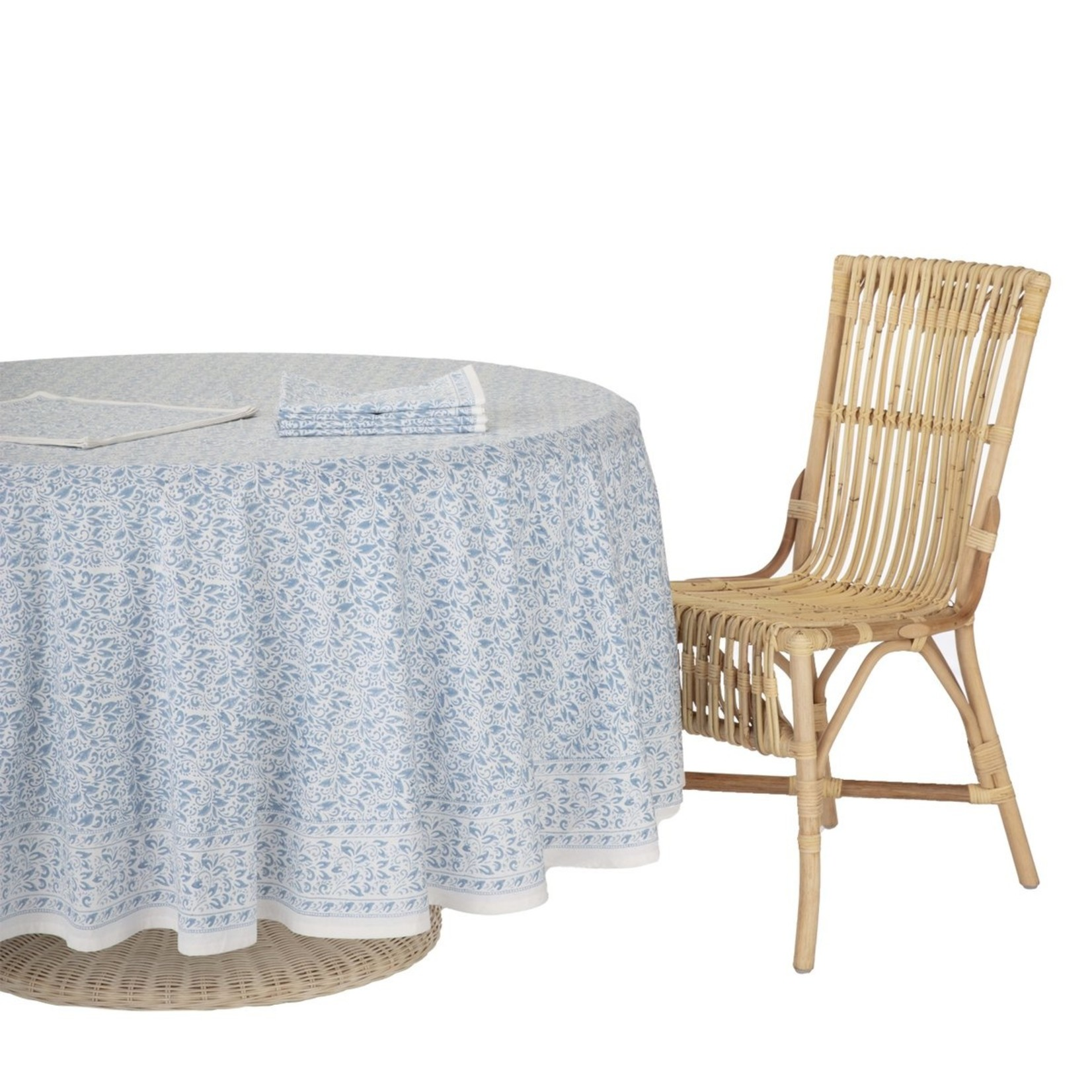 Amanda Lindroth Hand-Blocked Nira Tablecloth