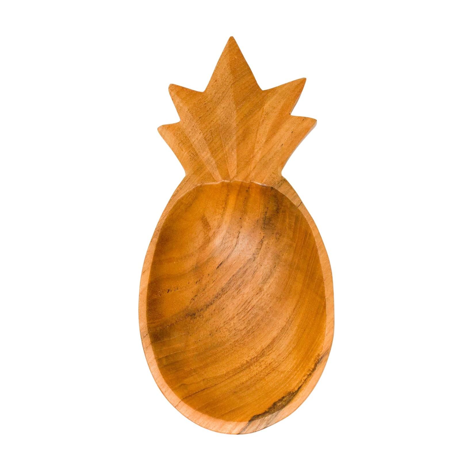 Poppy + Sage Pineapple Teak Bowl