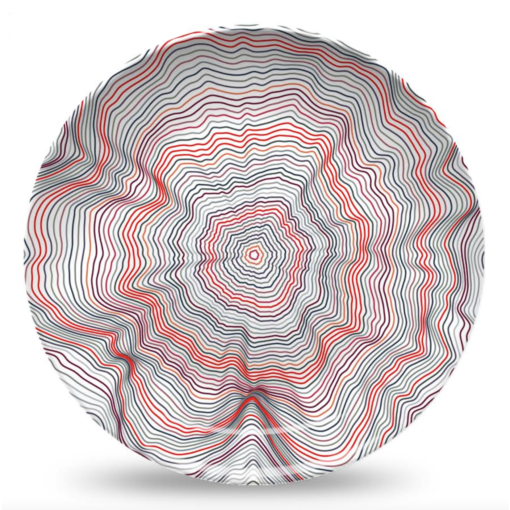 Nonna Peppy Spiral Red Plate