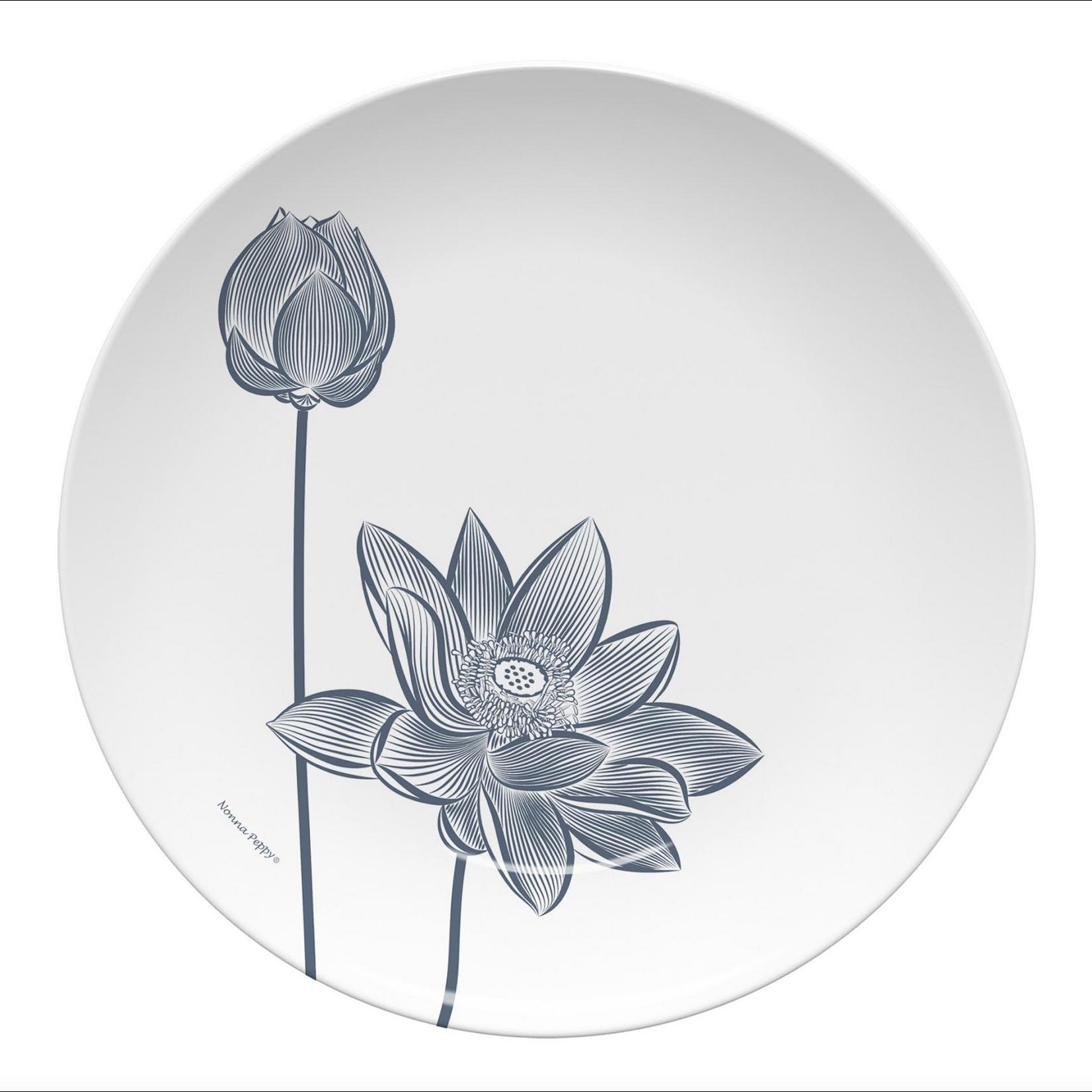Nonna Peppy Lotus Flower - White