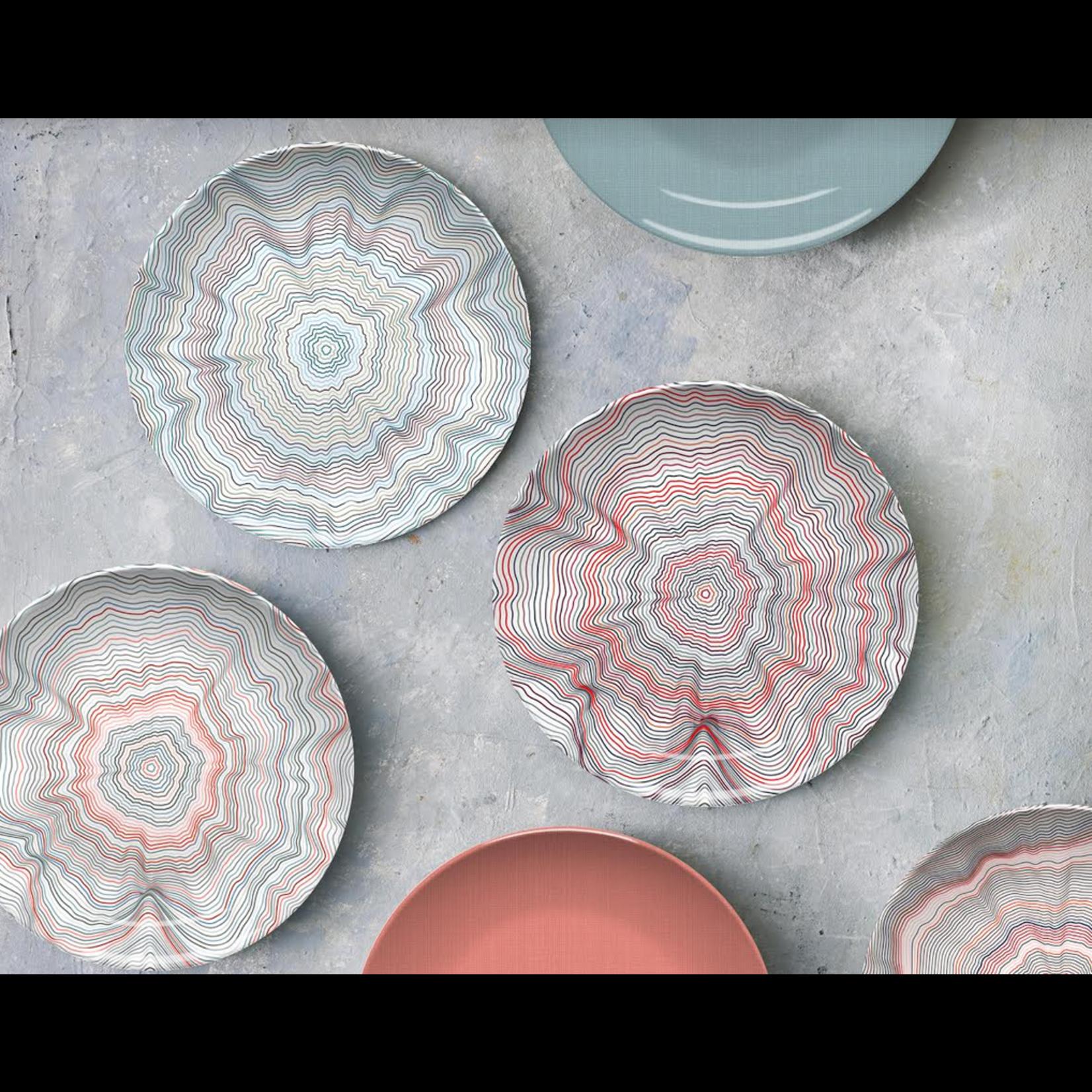 Nonna Peppy Spiral Red Platter
