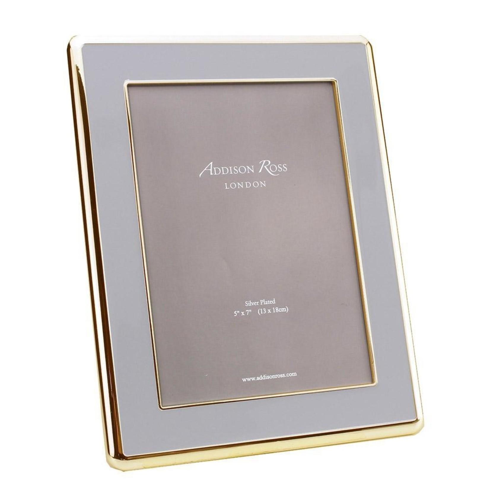 Addison Ross Colored Enamel & Gold Curved Frame