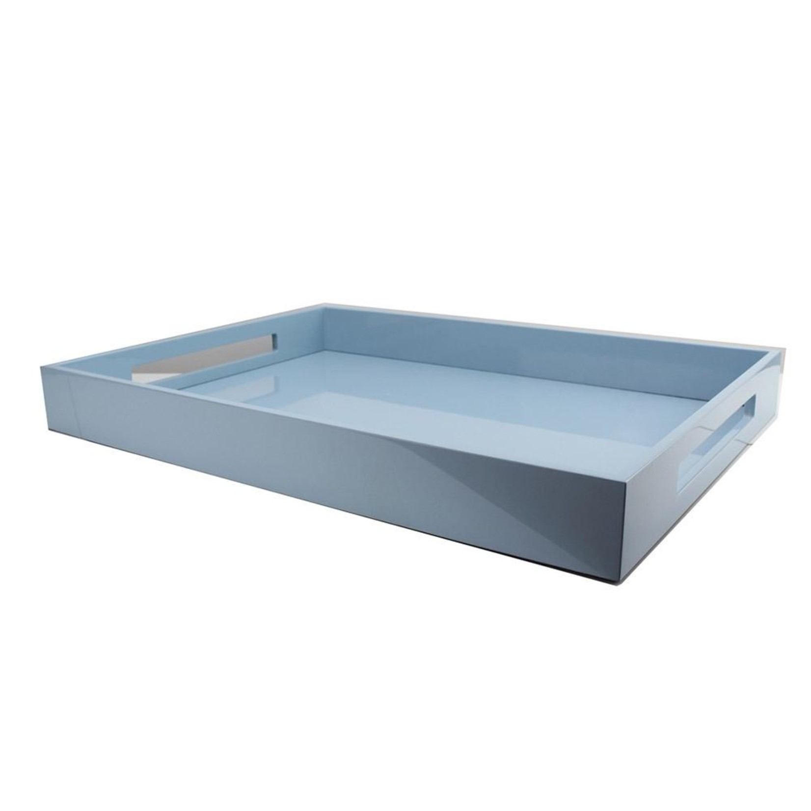 Addison Ross Lacquered Ottoman Tray - Pale Blue