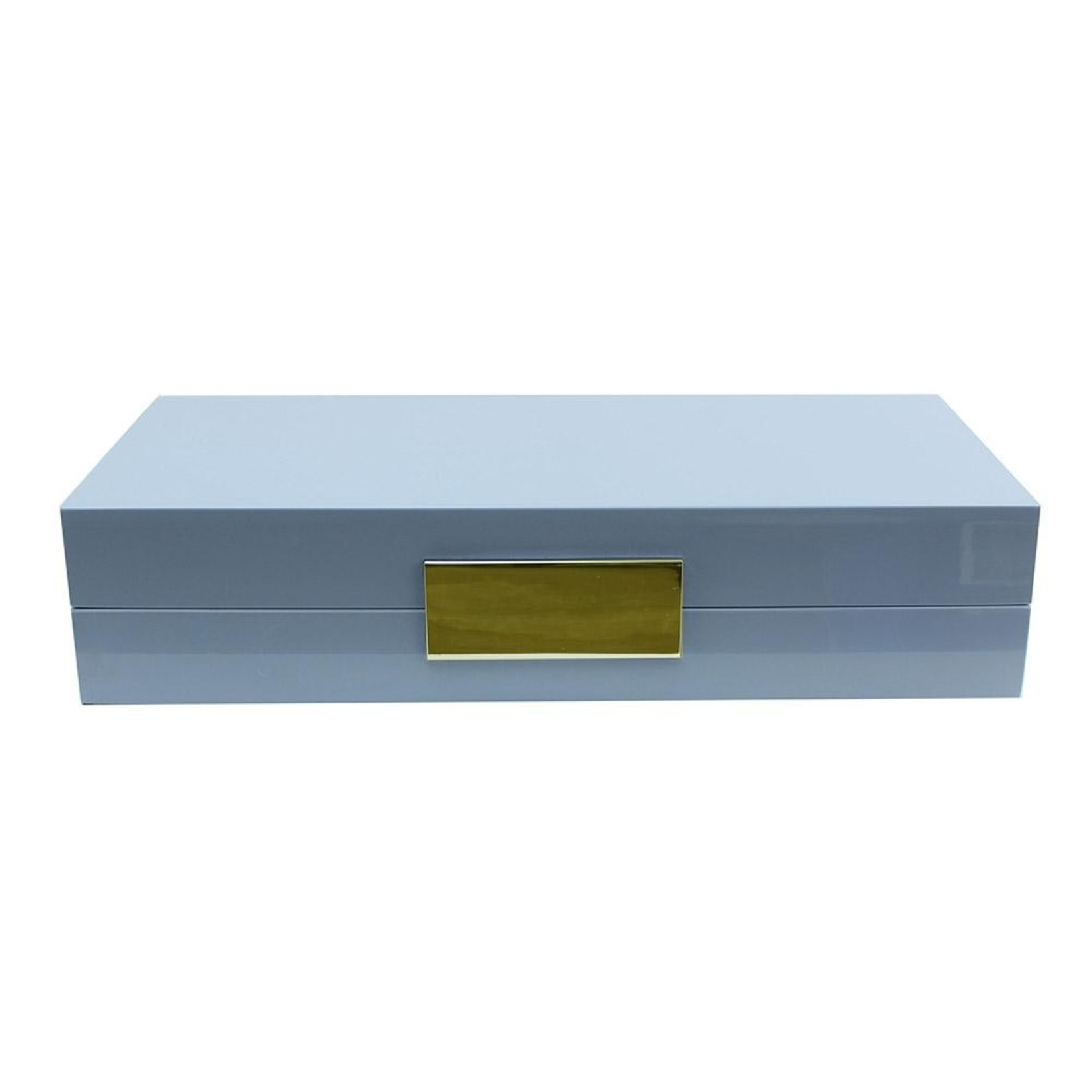 Addison Ross Pale Blue Lacquer Box with Gold
