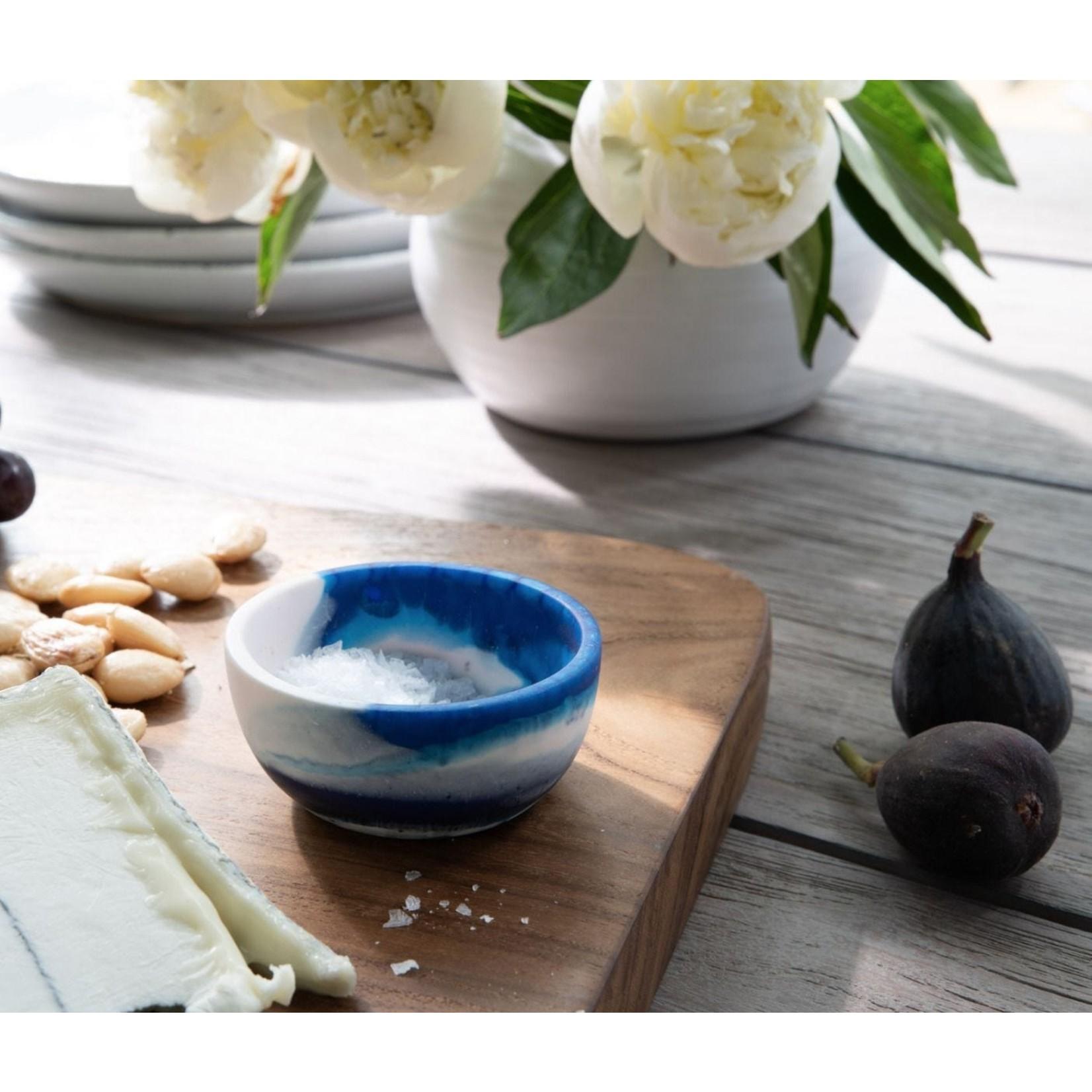 Blue Pheasant Hugo Blue Swirled Mini Serving Bowl