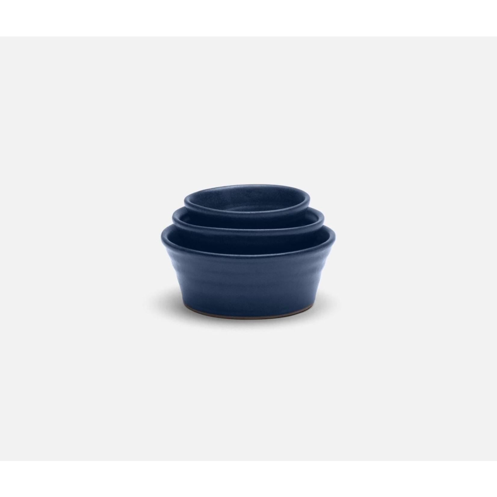 Blue Pheasant Leon Matte Navy Small Nesting Bowls