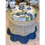 Mainly Baskets Dipped Scalloped Ottoman