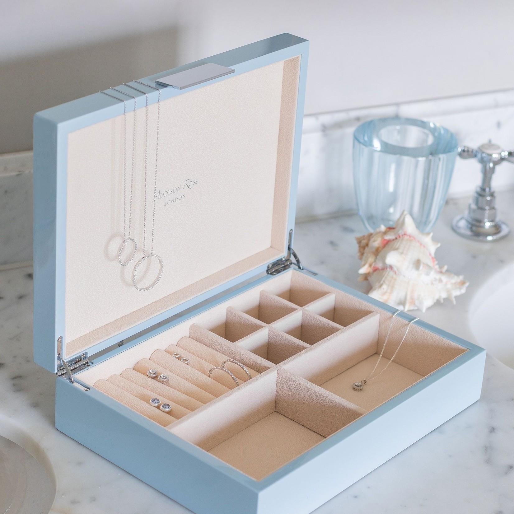 Addison Ross Large Jewelry Box in Pale Denim