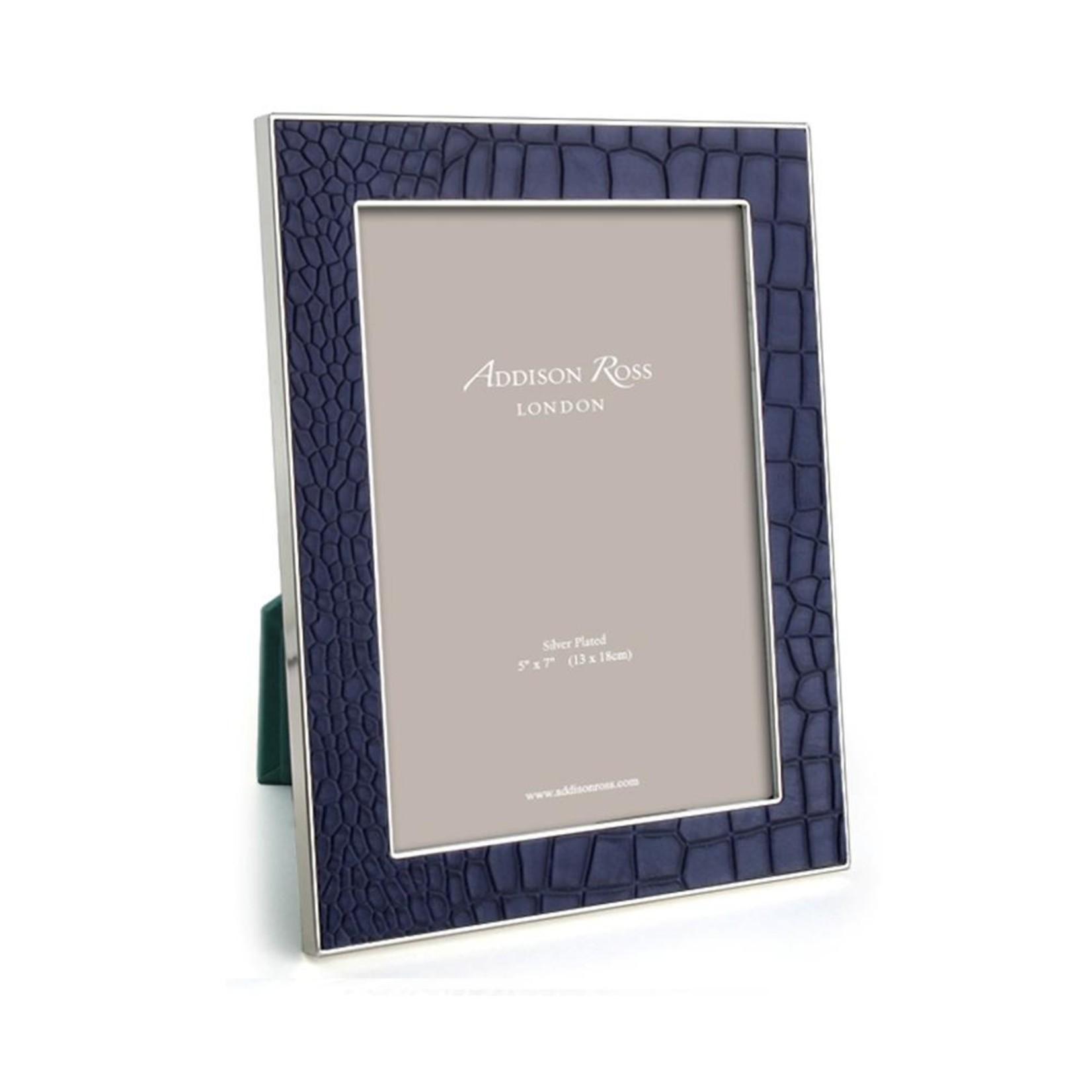 Addison Ross Blue Croc & Silver Frame - 5x7