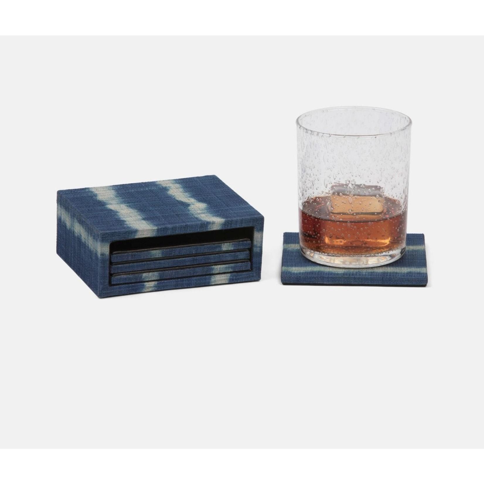 Blue Pheasant Kuta Tie Dye Coasters - Set of 4
