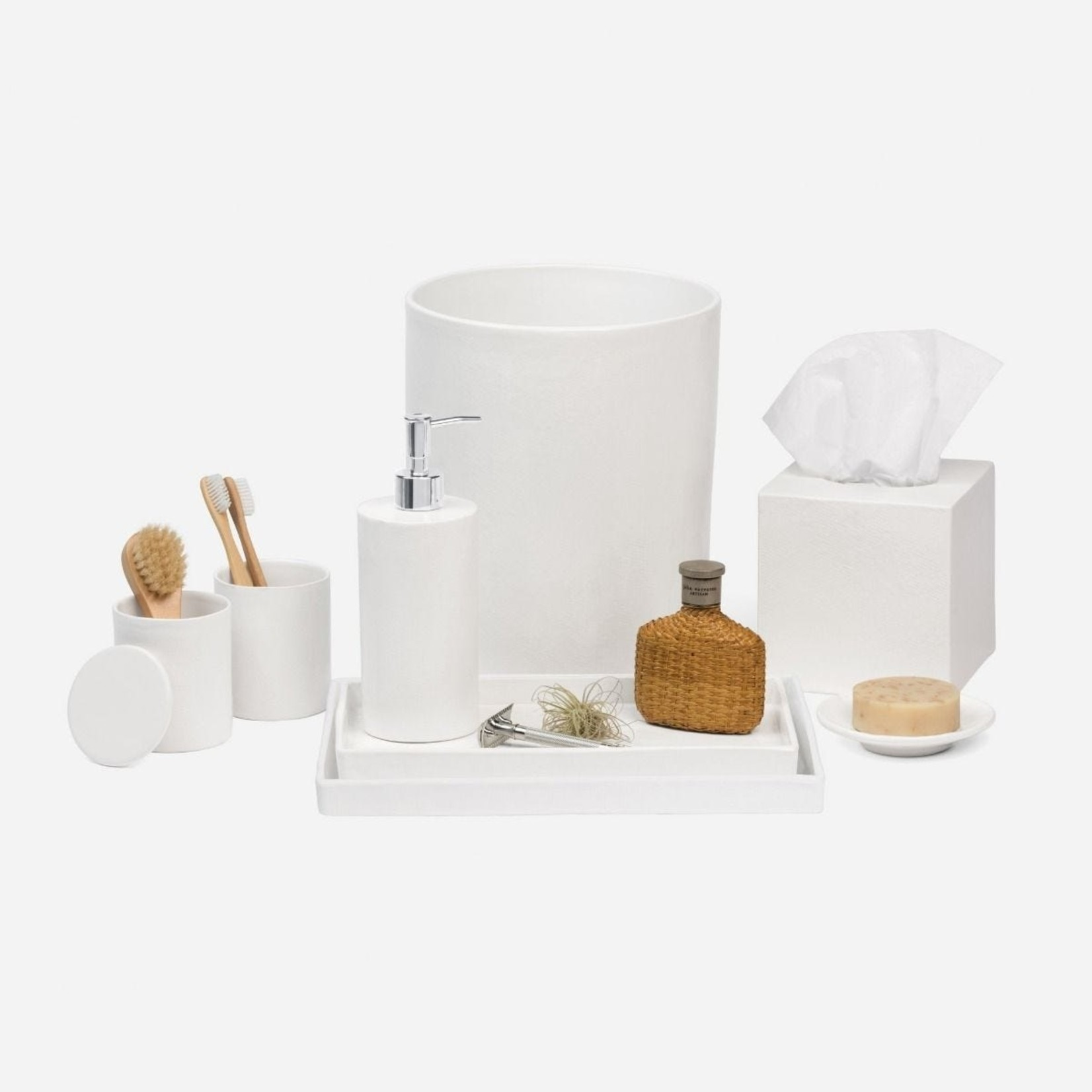 Pigeon and Poodle Cordoba White Ceramic Bathroom Set