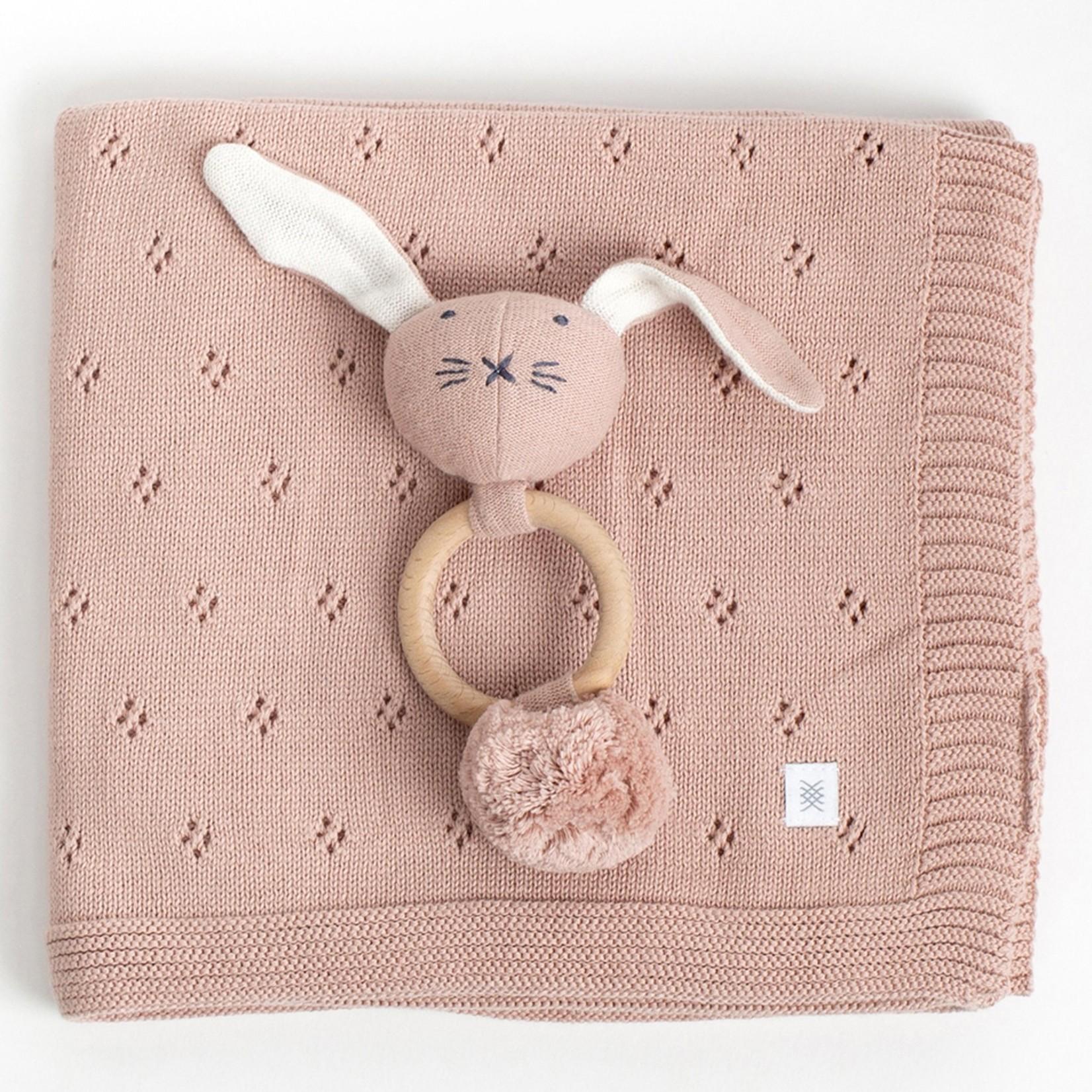 Zestt Organic Cotton Clover Knit Baby Gift Set