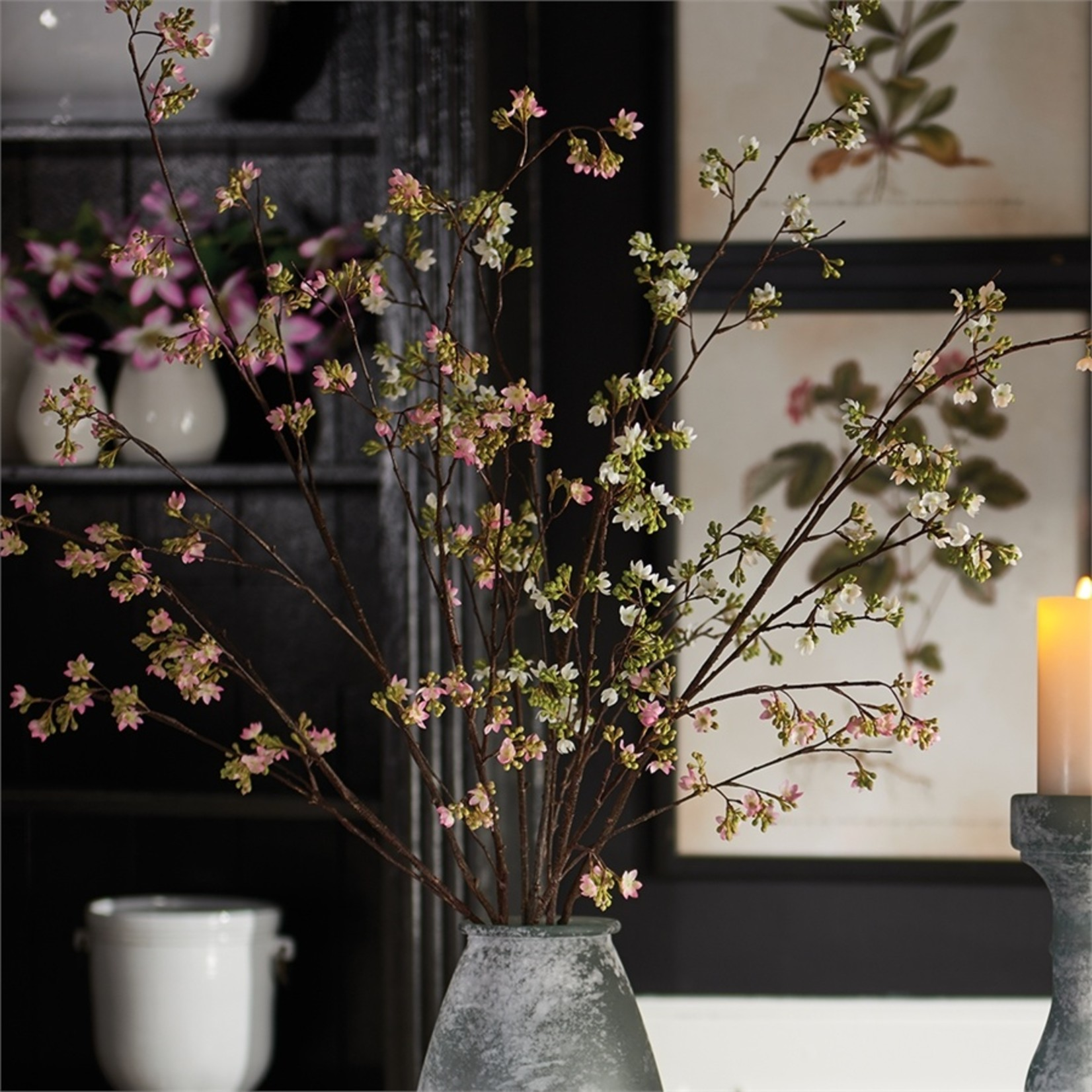 """Napa Home and Garden Blossom Branch in Pink - 57"""""""