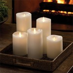 Napa Home and Garden Moving Flame Melted Edge Indoor Pillars