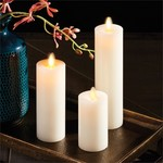 Napa Home and Garden Moving Flame Flat Edge Indoor Pillars